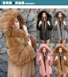 2020 última moda Senhoras Casacos de Inverno Estilo Curto Faux Fox casaco de peles com pêlo de Inverno batas de mulher