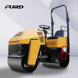 1 Ton Mini Hidráulico do Compactador de solo de vibração de asfalto Rolo de estrada vibratório