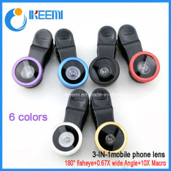 Câmera lente teleobjectiva/lente grande angular/Objectiva Fisheye