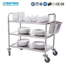 Heavybao из нержавеющей стали 3 уровня ресторан продовольственной службы очистки кухня тележки