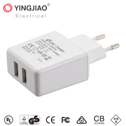 5V 3.1A 15,5W DC adaptador de corriente USB doble