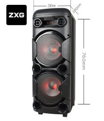 El equipo del sistema de sonido profesional PA Altavoces Carro Karaoke Mezclador de DJ Cuadro Woofer de altavoces Bluetooth