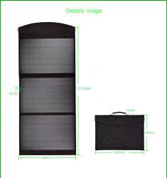 60W портативное зарядное устройство солнечная панель водонепроницаемый кемпинг на солнечной энергии зарядное устройство с 2 порта USB и DC порт для iPhone