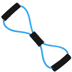 Высокое качество фитнес-Strong 8 Форма латекс сопротивление полосы тренировки портативный эластичные осуществлять трубку с помощью рукоятки на заводе