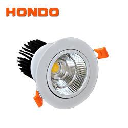 LED vertiefte bündig Montierung PFEILER-Aluminium-PC runde LED Deckenleuchte