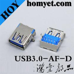 موصل USB 3.0 A من النوع الأنثثى لمنتجات الكمبيوتر (USB3.0-AF-D)