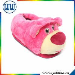 ピンクのプラシ天の柔らかい偶然の赤ん坊の子供の衣服のスリッパ