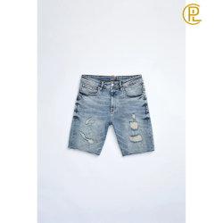 Duas cores Homem Denim Jeans Curto