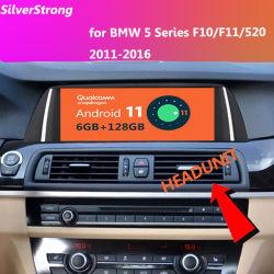 6G + 128g Android 11 차량용 무전기 스테레오 멀티미디어 플레이어 GPS 내비게이션 BMW 5 시리즈 F10 F11 2010-2016 CIC Nbt 모니터의 경우
