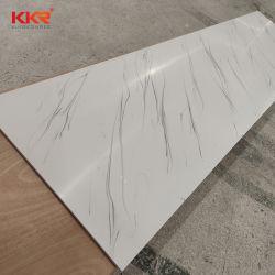 El Mármol Blanco Glaciar encimera de Corian acrílico mate/ Hoja de superficie sólida de escritorio