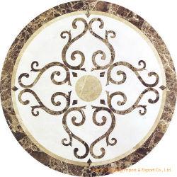Mosaicos de mármore natural personalizados medalhão de jacto de água para azulejos do piso