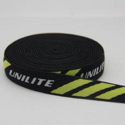 Tessitura elastica del jacquard del poliestere/Nylon/PP/Cotton del silicone su ordinazione di stampa
