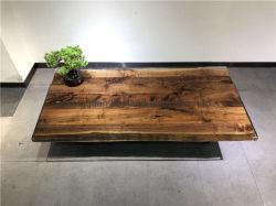 Resina epóxi Live Edge madeira de nogueira Contador / Console do tampo da mesa