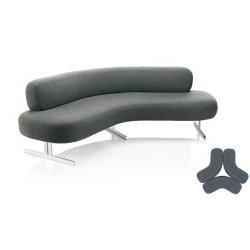 Semi Divano A Forma Ovale Divano Circle Divani Semicircolari Divano Leisure Combinazione Rotonda Divano Designer (Hy-Sofa02)