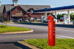 Помочь точки телефонной станции аварийного вызова шоссе в салоне