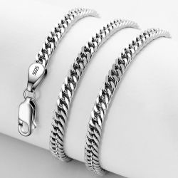 Juwelen 925 van de Manier van de Juwelen van de Douane van Hip Hop de Echte Zilveren 9K 14K 18K Gouden Halsband van de Keten van de Rand
