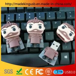محرك أقراص USB محمول من نوع PVC خاص بشخصية الرسوم المتحركة/ذراع USB من نوع Ancient