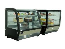 Vetrina del frigorifero dell'armadietto di esposizione della vetrina della torta della contro parte superiore