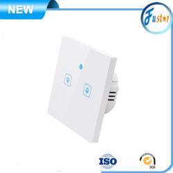 Reino Unido / Nosotros / Estándar de la UE Red Global de Control de la aplicación de la pared Smart WiFi luz toque eléctrico 1 de la pista / 2 / 3 de la pista, pista de la pantalla táctil de potencia Interruptor de pared