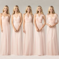 Vestidos Bridesmaid conversível Custom Tulle Empire Bridesmaid Dress LB923