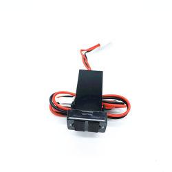 In het groot Auto 12V aan 5V 2.1A de Dubbele GPS van de Contactdoos van de Haven USB Lader van de Telefoon van de Cel