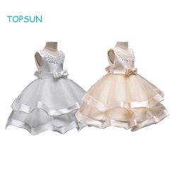 Baby Girls blanc robe de princesse jusqu'Pageant parti d'anniversaire de la danse des tenues de soirée Belle vêtement d'usure