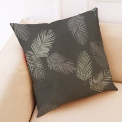 Colorful Feather Cotone Lino Tiro Pillowcase Bella Cuscino Di Copertura