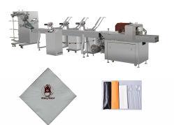 Il tovagliolo del cucchiaio della forcella della lama con la coltelleria stampata imposta la macchina imballatrice