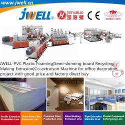 Schiumatura della plastica Jwell-PVC|Semi-Spellatura della scheda che ricicla espulsione di fabbricazione agricola|Macchina della coestrusione per la fabbrica di progetto della decorazione dell'ufficio diretta