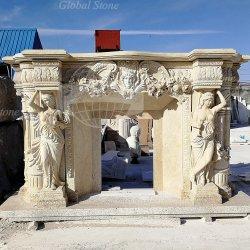 ينحت حجارة تمثال رخام نحت مصطلى [سورّووند] موقد ([غسمف-105])