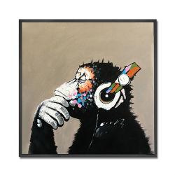 Handgemachtes TierÖlgemälde auf Segeltuch-Kunst-Farbanstrich für Wand-Dekoration