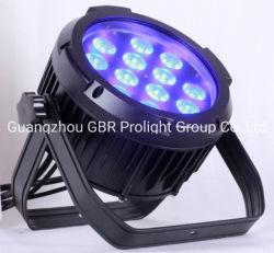 precio de fábrica! Alto brillo 12X 12W RGBWA+UV resistente al agua 6 en 1 Par de LED de iluminación puede