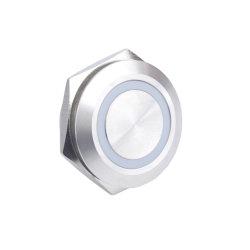 Empujar en 25mm 4 Pin mini interruptor de luz LED momentánea