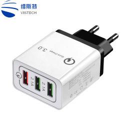 3 портов быстрая зарядка зарядное устройство USB QC3.0 быстрое зарядное устройство на стене зарядное устройство USB адаптера