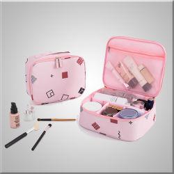 Waterdichte en Promotie Fashion opvouwbare Toilettas in verschillende kleuren En Custom Portable Cheap Cosmetic Bag in Two Version voor Kiezen