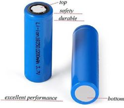 Bateria de alta capacidade de alta potência18350 Imr 1200mAh 3.7V Alta corrente de descarga para a CIG Mod e Luz de Flash
