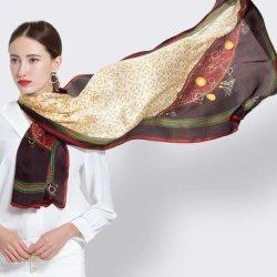 Impression numérique le plus récent personnalisé foulard satin de soie polyester comme Suppiler