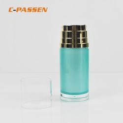 Пластиковая трубка бачок для двойных лосьон для тела/суть по уходу за кожей лица