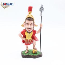 Il Figurine poco costoso Handmade all'ingrosso del cavaliere della resina Bobble la testa
