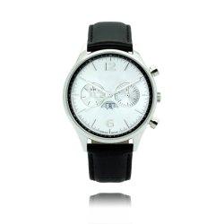 Pas de Beweging van Japan van het Embleem in het Echte Horloge van de Stijl van Mvmt van het Roestvrij staal van de Functie van het Horloge van het Leer Multi (aan jy-ST056)
