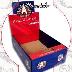 Unregelmäßige Form-gewölbter Papierkasten für Kleinschokoladen-Nuts Zuckersüßigkeit-Kaugummi-Bildschirmanzeige