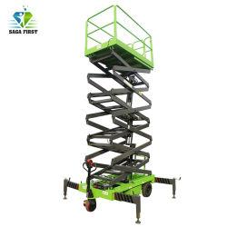 18m Handbare elektrische hydraulische Mobile Scherenheber für die Baupflege