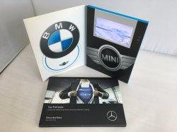 A5 크기 1500mAh 리튬 배터리 저렴한 인쇄 맞춤형 7인치 LCD 비디오 브로셔 인사말 선물