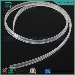 Silicona rectangular redonda TUBO LED tubos de goma suave protector de silicona transparente Flat Tubo de goma