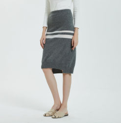 Estilos de 2020 100% Alashan Cashmere Senhoras Fashion Stripe saia de Lazer