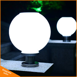 Pilier de la Lampe solaire solaire lumière Post Bollard avec ballon rond
