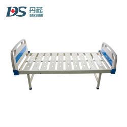 Bon marché de l'hôpital plats en fer de lits avec les conseils de la tête de l'ABS