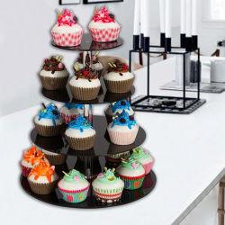 Design Moderno suporte de bolo de casamento Cupcake acrílico titular