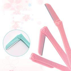 Herramientas de belleza OEM Cosmetic afeitadora afeitadora ceja plegable de plástico