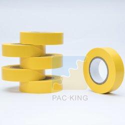 Желтый электрической изоляции клейкой ленты ПВХ